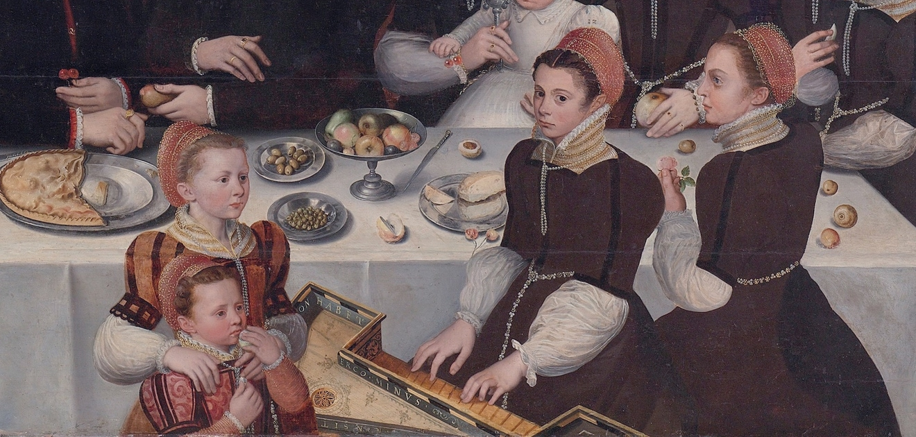 Фрагмент портрета Пьера Мушерона с семьей, 1563 год. Автор неизвестен. Фото - Rijksmuseum Amsterdam
