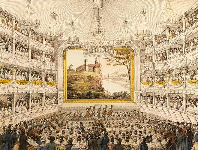 Интерьер Театра Ан-дер-Вин в Вене, гравюра, XIX век. Фото - Brigeman Images / Fotodom