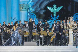 Супруги Нетребко и Эйвазов впервые спели дуэтом в Санкт-Петербурге.Фото - Руслан Шумаков / пресс-служба концерта