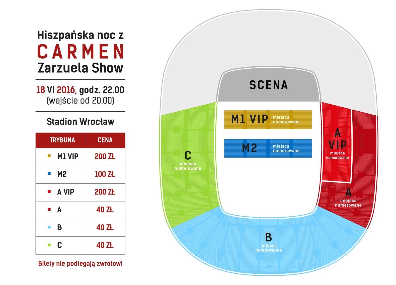 «Испанская ночь с Кармен» на городском стадионе польского Вроцлава