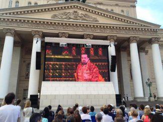 """Трансляция """"Царской невесты"""" в Большом театре. Эльчин Азизов в роли Грязного."""