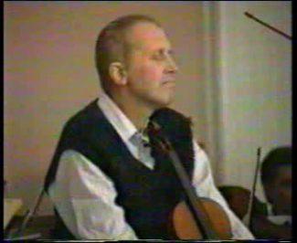 Олег Каган. Кадр из видеозаписи концерта