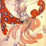 Леон Бакст. Эскиз костюма Клеопатры для Иды Рубинштейн, 1909 год