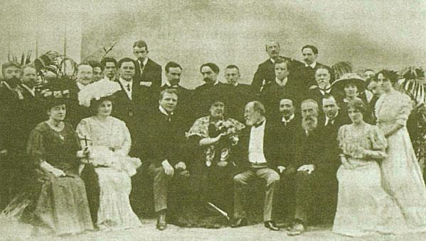 Участники «Русских исторических концертов в Париже» в гостях у Сен-Санса. Париж, 1907 год