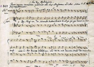 Фрагмент Оратории Сальери. Фото - Gesellschaft Der Musikfreunde