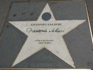 Звезда Сальери на венском тротуаре