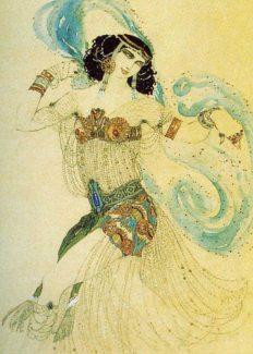 Леон Бакст. Костюм Саломеи для Иды Рубинштейн, 1908 год