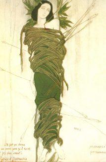 Леон Бакст. Костюм Иды Рубинштейн в роли Святого Себастьяна, 1911 год