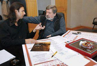 Теодор Курентзис и Борис Мездрич, Новосибирский театр оперы и балета, 2005 год. Фото - Владимир Зинин