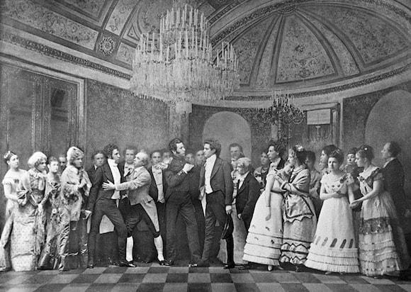Студенты Московской консерватории исполняют сцену из оперы Петра Ильича Чайковского «Евгений Онегин», 1879 г. Фото - РИА Новости