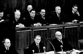 Дмитрий Шостакович на встрече представителей советской интеллигенции с руководителями страны.