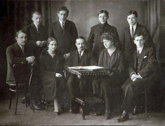 Класс Штейнберга в Петроградской консерватории. Шостакович – крайний слева.