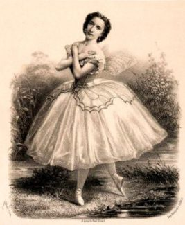 Эмма Ливри в балете «Бабочка». Гравюра Жакотена (Jacotin), 1860 год