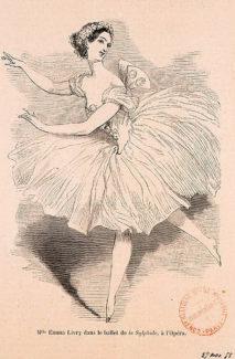 Эмма Ливри в балете «Сильфида», 1858 год