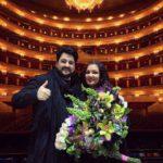 Анна Нетребко и Юсиф Эйвазов на сцене Большого театра. Фото - Эрик Шахназарян