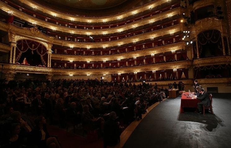 Пресс-конференция Competizione dell'Opera. Фото - Вячеслав Прокофьев/ТАСС