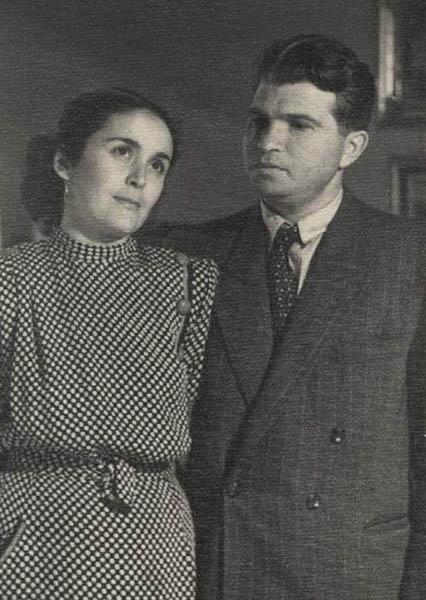 Эмиль Гилельс и его жена Фаризет Хуцистова