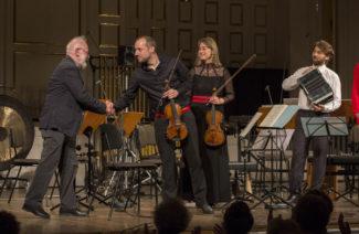 Курт Швертзик и солисты Австрийского ансамбля новой музыки