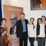Председатель жюри А. Б. Тростянский с участниками конкурса