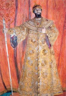 А. Головин. Портрет Шаляпина в роли Бориса Годунова, 1912 год