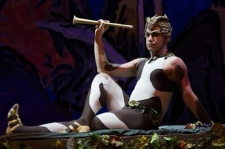 Николай Цискаридзе в сцене из балета «Послеполуденный отдых фавна». Фото - РИА Новости / Игорь Руссак