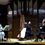 Ольга Ивушейкова (флейта), Татьяна Осколкова (арфа), Сергей Полтавский (альт)