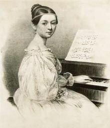 Клара Вик. Портрет Юлиуса Гиера, 1835 год