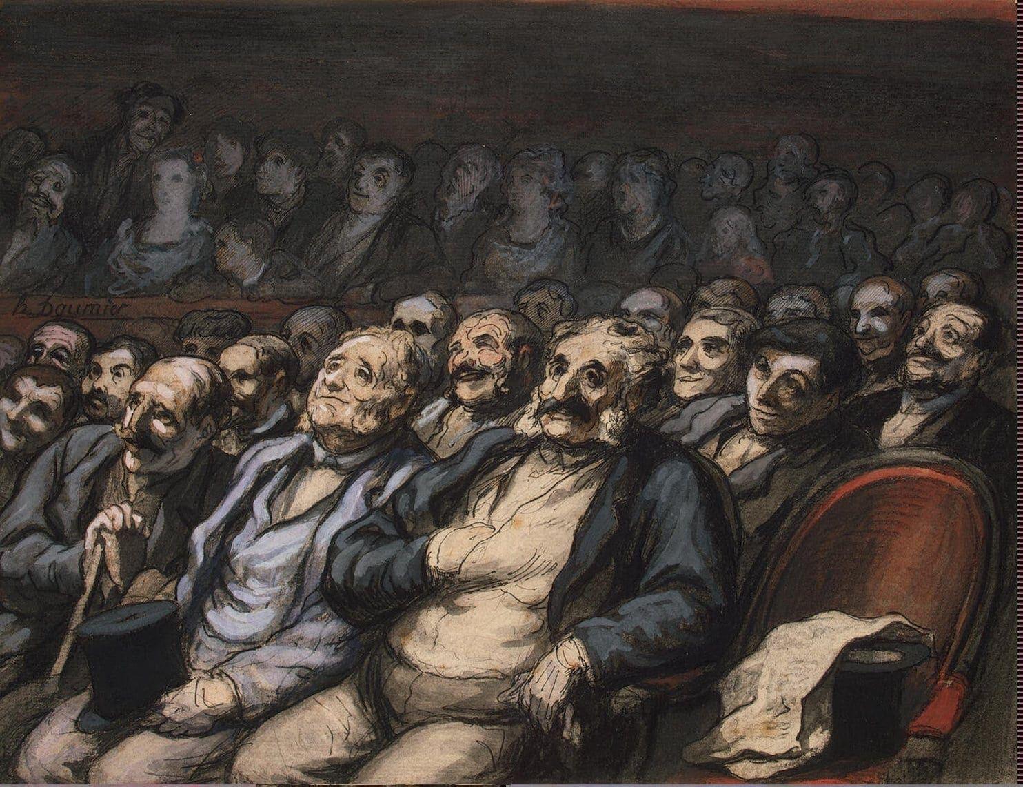 "Оноре Домье. ""На концерте"", 1864 год"