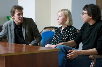 Сергей Чирков, Саша Елина и Дмитрий Бурцев