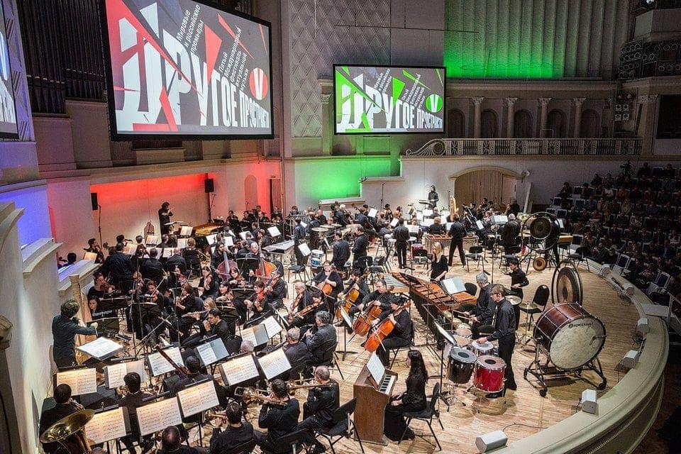 В «Группах» Штокхаузена ладят три оркестра. Фото - Евгений Разумный / Ведомости