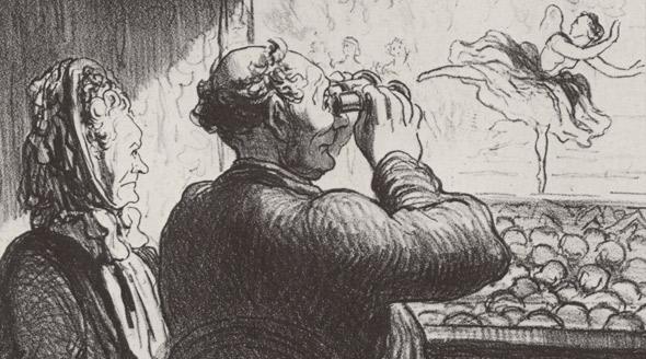 Оноре Домье. Из цикла театральных карикатур, 1864 год