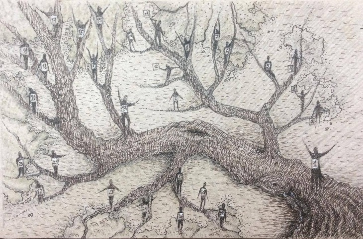 """""""Пути человека – это ветви дерева"""". Рисунок - Алина Леонова"""