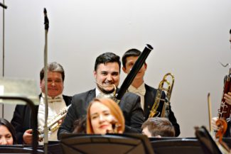 Музыканты РНО. В центре - Андрей Шамиданов (фагот). Фото - Ирина Шымчак