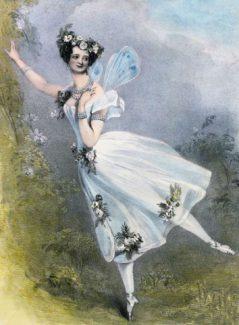 """Мария Тильони в балете """"Зефир и Флора"""". Вот так выглядела первая пачка, теперь она называется """"шопенка"""""""