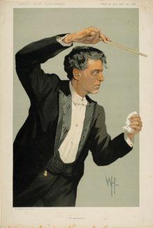 Масканьи-дирижер, открытка