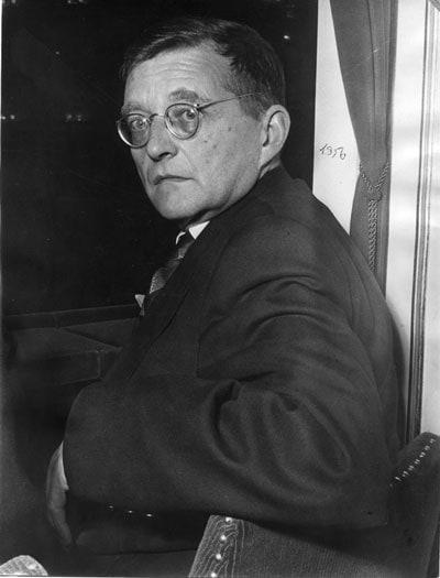 Д. Шостакович, 1956 г. Экспонат фотовыставки в Камерном музыкальном театре им. Покровского