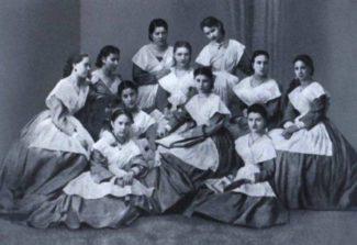 Воспитанницы Императорского театрального училища