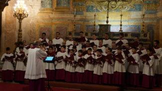 Выступление Папской Сикстинской музыкальной капеллы, дирижер Массимо Паламбелло