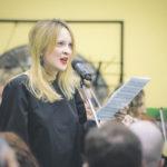 Настасья Хрущева исполнила сольную партию в своей пьесе. Фото - Алиса Егорова