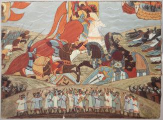 Сильвия Кофман, эскиз декораций к спектаклю «Александр Невский», 1969 год. Фото - архив Мариинского театра