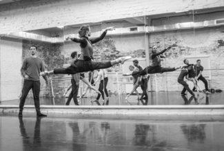 Антон Пимонов на репетиции «Луны напротив». Фото - «Балет Москва»