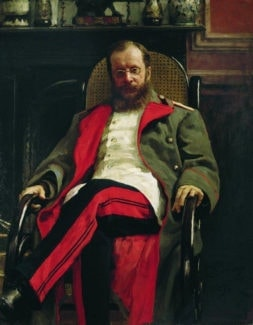 Цезарь Антонович Кюи, портрет И. Е. Репина.
