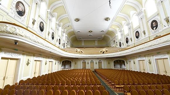 Большой зал Московской консерватории. Фото - Сергей Пятаков/РИА Новости