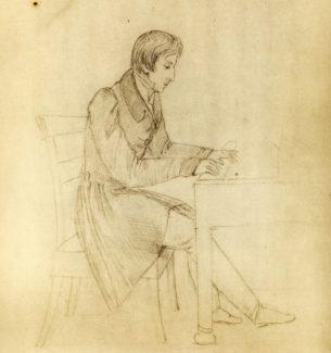 Фредерик Шопен. Рисунок Элизы Радзивилл, 1826 год