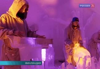 Финские музыканты смастерили инструменты изо льда