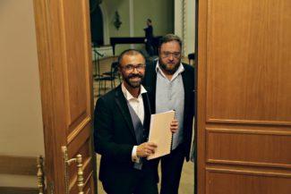 Павел Нерсесьян и Максим Пастер. Фото - Ирина Шымчак