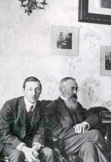 Игорь Стравинский и Николай Римский-Корсаков, 1908 год
