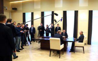 Встреча Президента РФ Владимира Путина, министра культуры Владимира Мединского и генерального директора Большого театра Владимира Урина