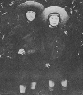 Братья Равель, Морис и Эдуар в детстве