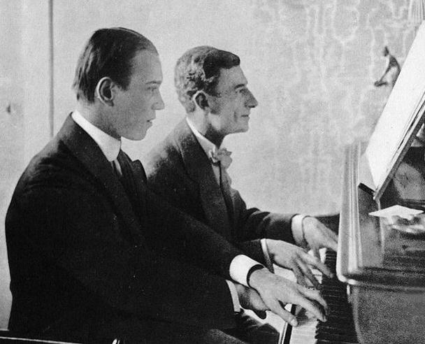 М. Равель и В. Нижинский во время работы над балетом «Дафнис и Хлоя»